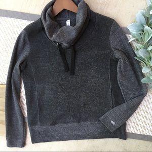 Alo Yoga Heather Grey Turtleneck Sweatshirt